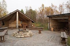 Rastplatz am See Sotkajärvi, Finnland