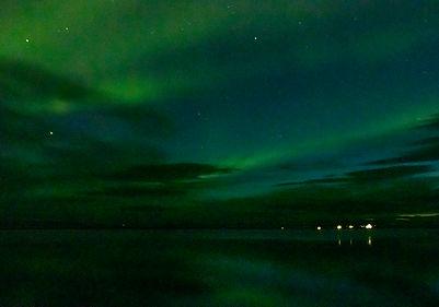 Polarlichter - Laponia Rastplatz an der E45