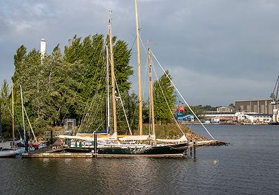 Am Stellplatz - Industriehafen Flensburg