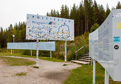 Polarkreis bei Jokkmokk