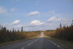 Straße bei Muddus Nationalpark