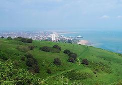 Blick auf Eastbourne