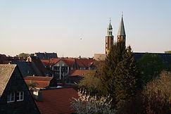 Blick auf Marktkirche in Goslar