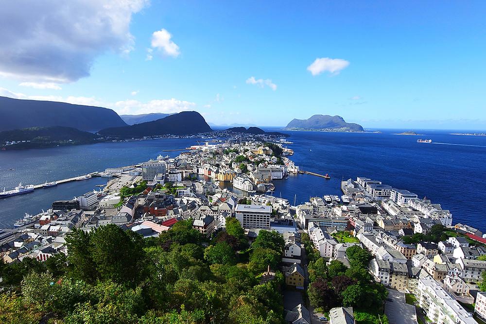 Blick auf Alesund, Norwegen
