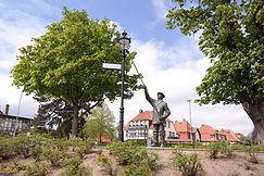 Straßenlaterne mit Statue Wernigerode