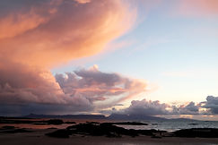 Sonnenuntergang am Strand von Arisaig