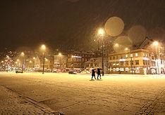 Bergen bei Schnee