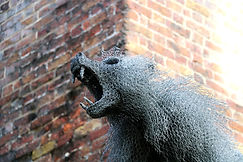 Metall-Affee im Tower of London