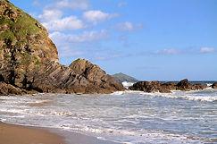 Tregantle Beach mitBlick auf Rame Head