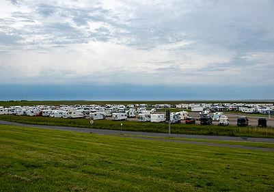Parkplatz beim Campingplatz Harlsiel