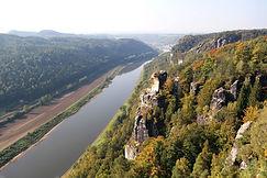 Blick auf die Elbe, Bastei