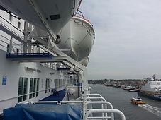 Fährhafen Amsterdam - Überfahrt nach Newcastle