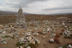 beim Polarkreis-Center, Steinskulpturen