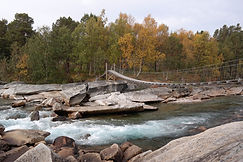 Hängebrücke Dypen Naturreservat