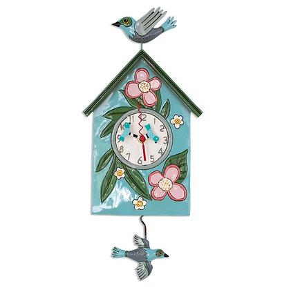 Birdhouse Pendulum Clock
