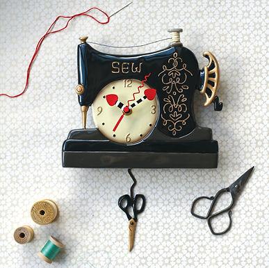 Sewing Machine Pendulum Clock