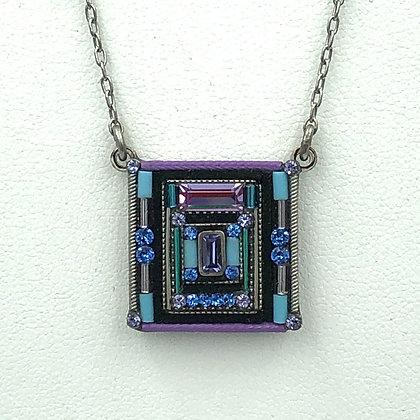 Geometric Square Necklace
