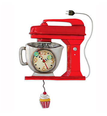 Vintage Mixer Pendulum Clock