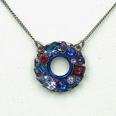 Bejeweled Circle Necklace Large
