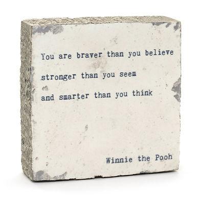 Winnie the Pooh Quote Block
