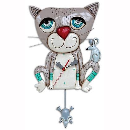 Cat and Mouse Pendulum Clock