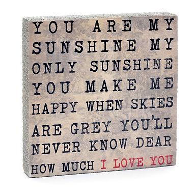 Sunshine Quote Block