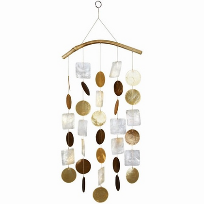 White and Gold Capiz Shell Chime
