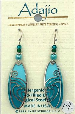 Adajio Teal and Turqoise Earrings