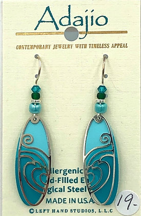 Adajio Teal and Turqoise Earrings