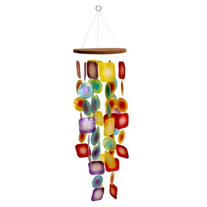 Tropical Sunset Capiz Shell Chime