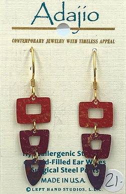Adajio Red Earrings