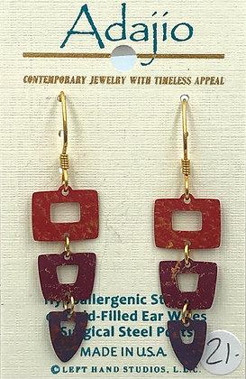 Adajio Red Earrings
