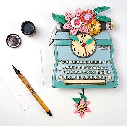 Typewriter Pendulum Clock