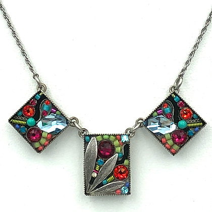 Luxe Leaf Triple Pendant Necklace