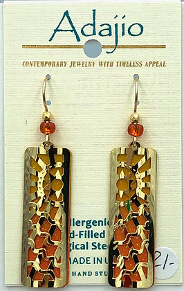 Adajio Orange and Brown Earrings
