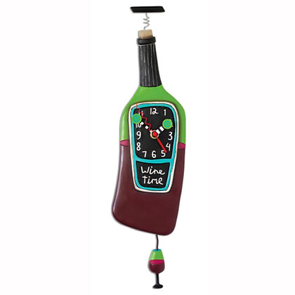Wine Time Pendulum Clock
