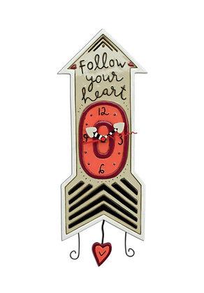 Heart Arrow Pendulum Clock