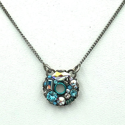 Bejeweled Circle Necklace Small