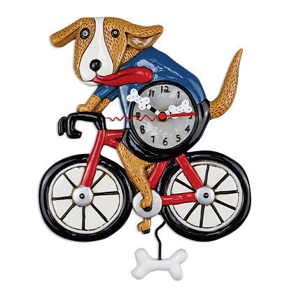 Bicycle Dog Pendulum Clock