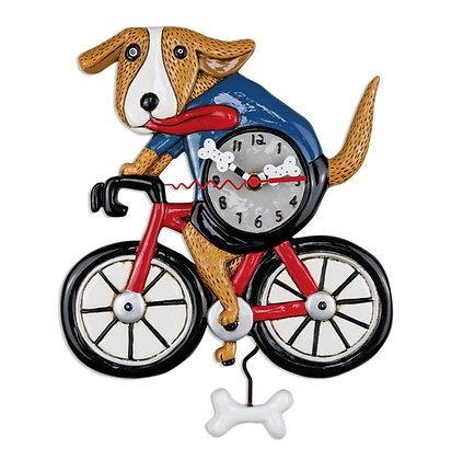 Bicycle Dog Pendulum Clock