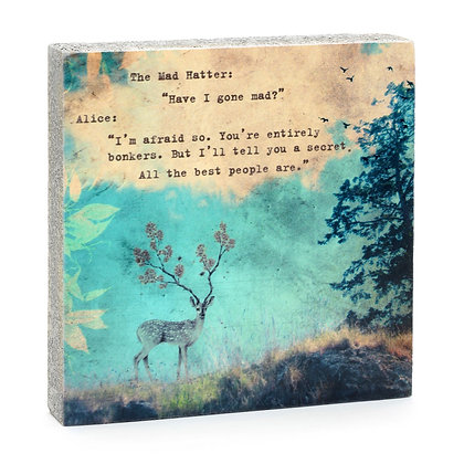 Mad Hatter Quote Block