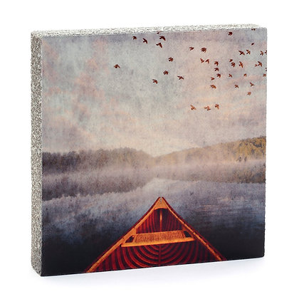 Canoe and Lake Art Block