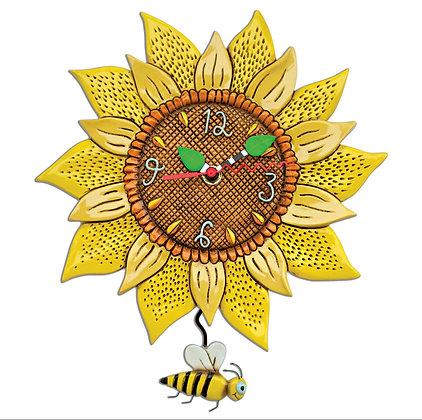 Sunflower Pendulum Clock