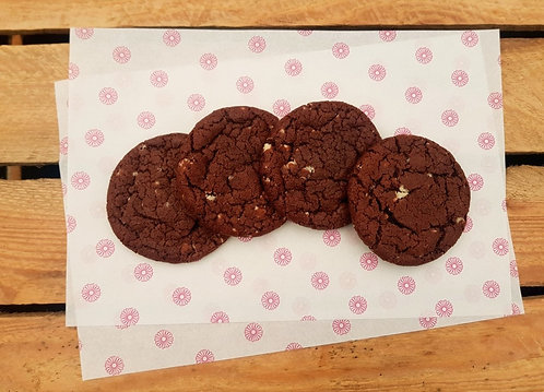 Chocolate Cookie with WhiteChocolate Chunks