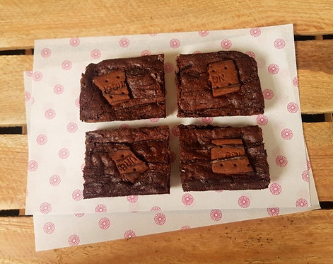 Triple Chocolate Bourbon Brownie