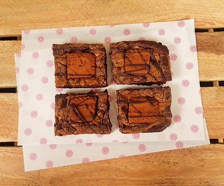Triple Chocolate Biscoff Brownie