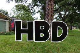 Classic Black Happy Birthday Set