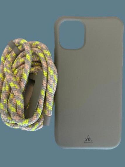 סט סמארטפון אפור צהוב