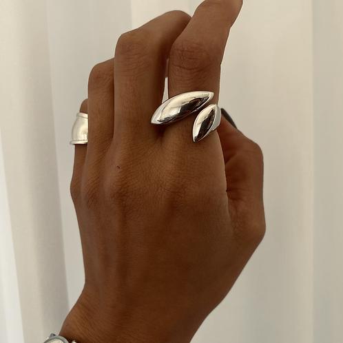 טבעת עלה פתוחה