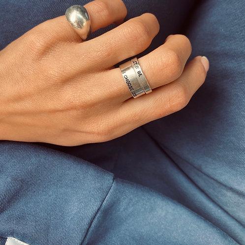 טבעת ראונד משולבת